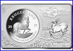 2017 South Africa 3 oz Silver 50th Anniv of the Krugerrand Coin & Bar w COA/BOX