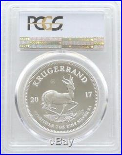 2017 South Africa 50th Anniversary Krugerrand Silver Proof 1oz Coin PCGS PR70 DC