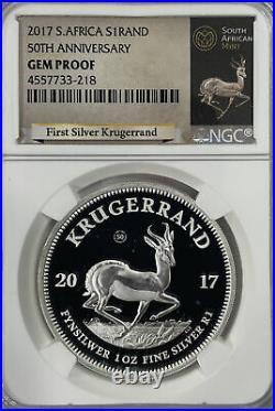 2017 South Africa Krugerrand Silver NGC GEM Proof
