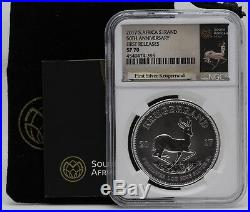 2017 South Africa Silver Krugerrand 1 Oz NGC SP70 First Releases JY897