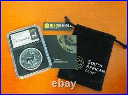 2017 South Africa Silver Krugerrand Ngc Sp70 First Day Of Issue 50th Ann Fdi