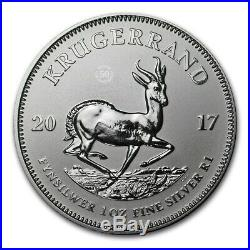 2017 South Africa Silver Krugerrand Premium Uncirculated Roll FIRST RELEASE
