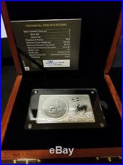 2017 South African 3oz silver Krugerrand rev. Proof bar 5000 mintage 50th anniv