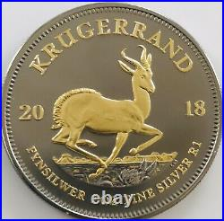 2018 1 oz. 999 South African Krugerrand Ruthenium & Gold Gilded Empire Edition