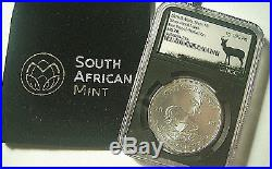 2018 S Africa S1R 1 Oz Silver Krugerrand NGC MS70 FIRST DAY OF PRODUCTION RARE