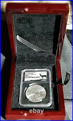 2018 Silver South African Krugerrand, 1R, NGC MS70 RARE, 1 of first 1,000 Struck