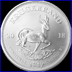 2018 South Africa 1 oz Silver Krugerrand Proof Mintage Only 15k with COA 11098&9