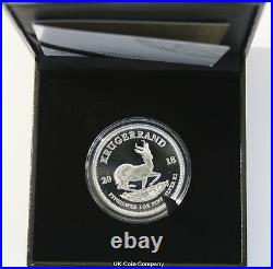2018 South Africa Fine Silver Proof Krugerrand Coin Boxed Certificate