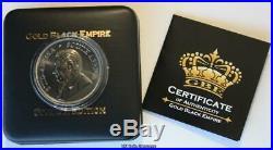 2018 South Africa Krugerrand Premium 1 oz Silver Black Ruthenium 24k Gold Coin