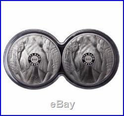 2019 1 Oz South Africa Big Five Elephant. 999 Silver Proof 2 Coin Set (presale)