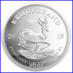 2019 Big Five Elefant + Krugerrand Privy Mark set 2 x 1 Oz Silver Proof