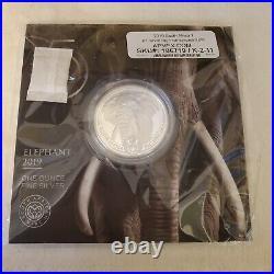 2019 Elephant South Africa Big Five 1 Oz Silver Coin Bu