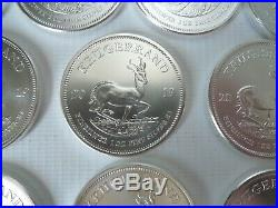 2019, Krugerrand 1oz bullion coins x Ten ounces 10x 1 oz 999 Silver