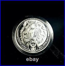 2019 Lion South Africa BIG FIVE 1 oz Silver Proof Coin Original Mint Box