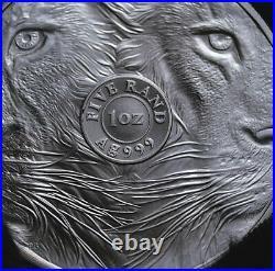 2019 Lion South Africa Big Five 1 Oz Silver Coin Bu