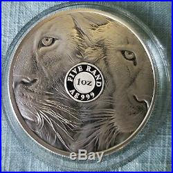 2019 Proof Krugerrand With Lion Privy & Proof Big5 Lion 2 Coin set. IN HAND
