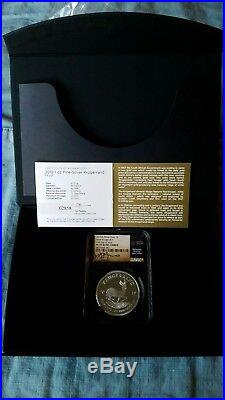 2019 SA Silver Proof Krugerrand PF70 FIRST DAY OF ISSUE TUMI Signed First FDOI