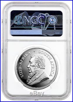 2019 S Africa 1oz Proof Silver Krugerrand NGC PF70 UC Springbok PRESALE SKU56656