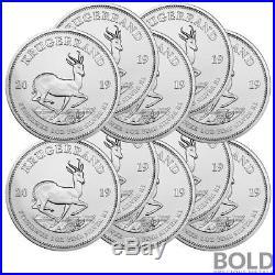 2019 Silver South Africa Krugerrand 1 oz (10 Coins)
