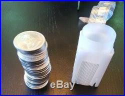 2019 South Africa 1 oz Silver Krugerrand. 999 Fine Silver Roll of 25 Coins BU