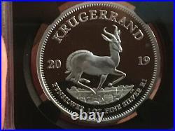 2019 South Africa 1oz Proof Silver Krugerrand FR NGC PF-70 UC, Cert#4875751-192