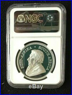2019 South Africa 1oz Proof Silver Krugerrand NGC PF70 UC with Full OGP, COA, PKG