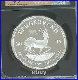 2019 South Africa 1oz Silver BIG 5 LION PRIVY Krugerrand Coin NGC PF70 UC FDI