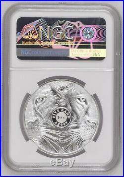 2019 South Africa BIG 5 LION ngc PF70 SILVER PROOF 5 RAND BIG FIVE
