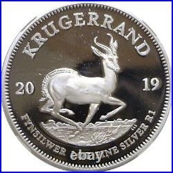 2019 South Africa S1KR 1 Oz. Silver Krugerrand NGC PF 69 Ultra Cameo