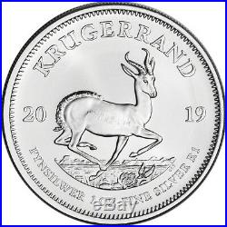 2019 South Africa Silver Krugerrand 1 oz 1 Rand 100 BU Coins in 4 Mint Tubes