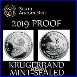 2019 South Africa Silver Krugerrand Proof MINT SEALED R1 1 RAND unopened S1KR