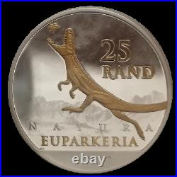 2019 South African Archosauria Dinosaurs Series 1oz Silver Gilded Edition