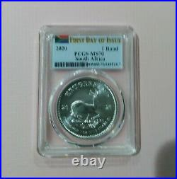 2020 1 Rand PCGS MS 70 South Africa First Day Of Issue