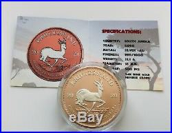 2020 1 oz. 999 South African Krugerrand Rose Gold Colorised Silver Coin
