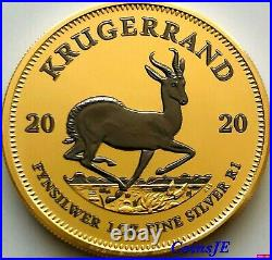 2020 1 oz. 999 South African Krugerrand Space Gold Colorised Silver Coin