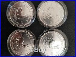 2020 1oz South African Krugerrand 1 ounce Silver Bullion Coin unc x4