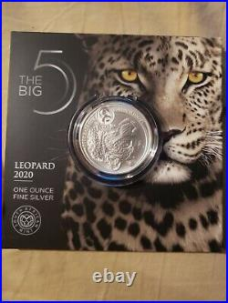 2020 Leopard South Africa Big Five 1 Oz Silver Coin