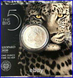2020 Leopard South Africa Big Five 1 Oz Silver Coin Bu