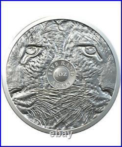 2020 Leopard South Africa Big Five 1 Oz Silver Coin Bu Presale