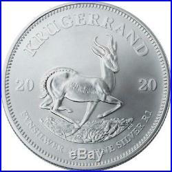 2020 SA Silver Krugerrand 1 oz Coin Lot of 10