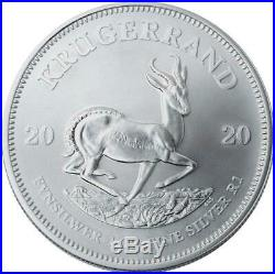 2020 SA Silver Krugerrand 1 oz Coin Lot of 20