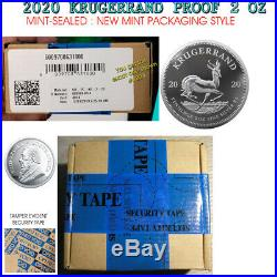 2020 Silver Krugerrand 2 ounce Proof MINT SEALED South Africa 2 RAND unopened oz