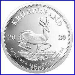 2020 Silver Proof 2 oz Krugerrand South Africa 2 Rand SEALED unopened