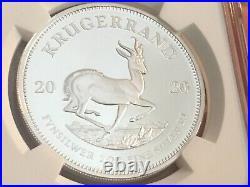 2020 South Africa 1 oz Proof Silver Kruggerand NGC PF-70 UC, Cert# 5839140-068