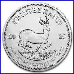 2020 South Africa 1 oz Silver Krugerrand 25-Coin MintDirect Tube SKU#195916