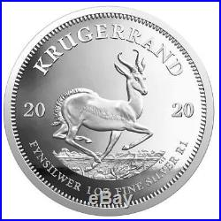 2020 South Africa 1 oz Silver Krugerrand Capsuled Proof Coin WithSEALED OMP & COA
