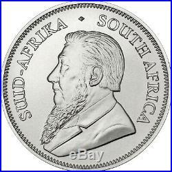 2020 South Africa. 999 Silver Krugerrand 1oz BU Coin 5 Piece Lot in Plastic Flip