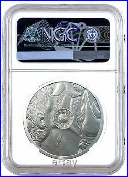 2020 South Africa Big 5 African Black Rhino 1 oz Silver R5 NGC MS70 FDI SKU60788
