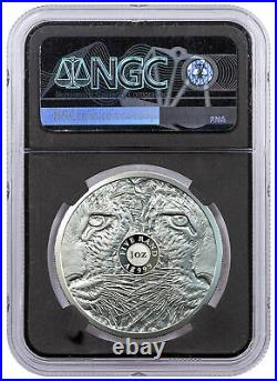 2020 South Africa Big 5 Spotted Leopard 1 oz Silver Proof R5 Coin NGC PF70 FR