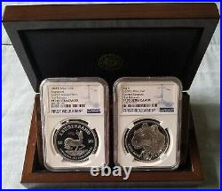 2020 South Africa KRUGERRAND/BIG5 LEOPARD PF70 UC FIRST RELEASES 2 COIN SET RARE